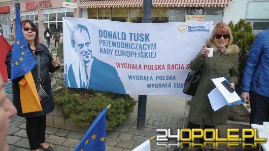 Opolanie wznieśli toast za przewodniczącego Donalda Tuska