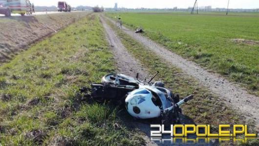 Wypadek motocyklisty na obwodnicy Lubrzy