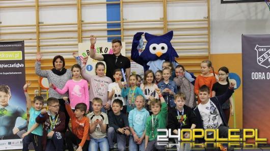 Odra Opole dołączyła do kampanii Odblaskowi.pl, skorzystali opolscy uczniowie