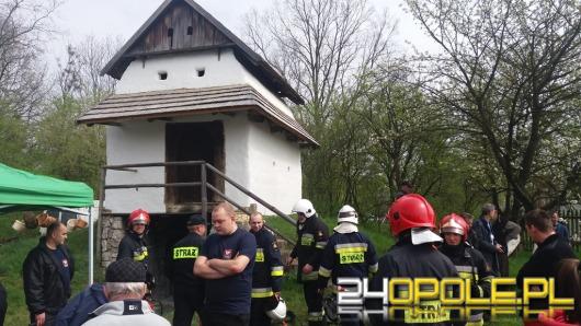Pożar na jarmarku w bierkowickim skansenie