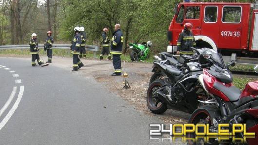 Motocyklista ranny w wypadku na Górze Św. Anny
