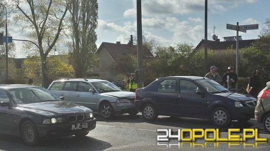 Zderzenie czterech aut na ul. Ozimskiej