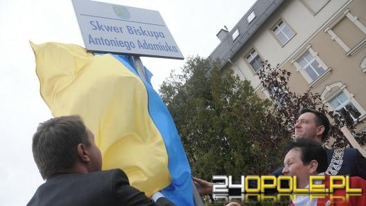Opole upamiętniło bp Antoniego Adamiuka. Powstał skwer jego imienia.