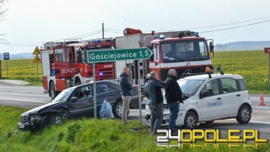 Wypadek w Sosnówce, dwie osoby ranne