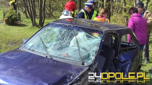 Wypadek pod Olesnem, w akcji śmigłowiec LPR