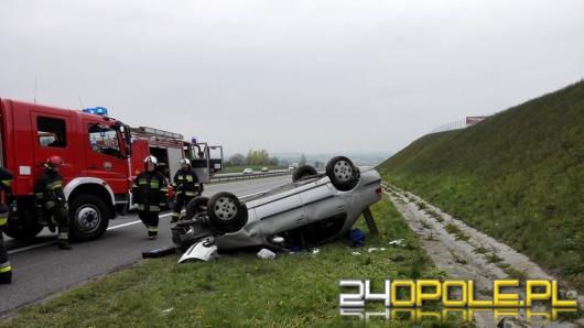 Dachowanie na autostradzie A4