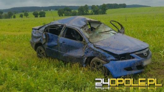 Dwa poranne wypadki na A4. Jeden kierowca nietrzeźwy, drugi dachował