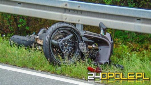Motocyklista ranny po wypadku na DK 41