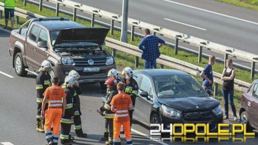 Zderzenie 6 samochodów na autostradzie A4