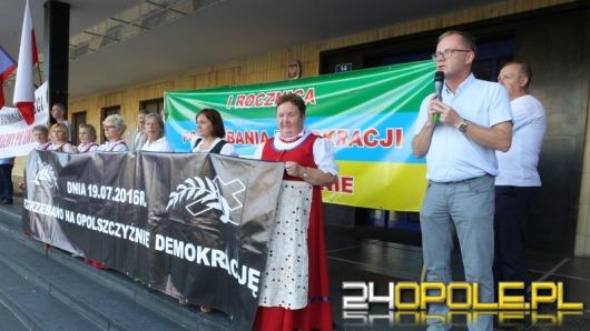 Protest w rocznicę wydania decyzji o powiększeniu Opola