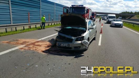 Dwie osoby ranne w wypadku na autostradzie A4