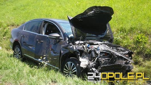 Zderzenie samochodów osobowych na obwodnicy Opola