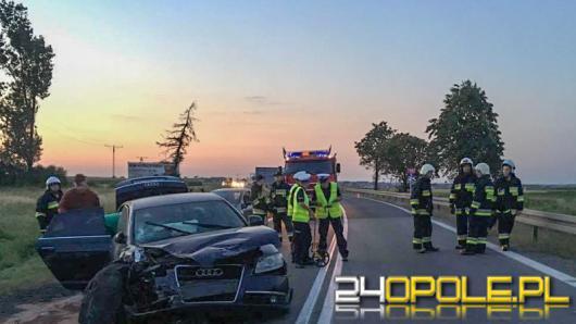 Wypadek w Zimnicach Wielkich. Trzy osoby w szpitalu