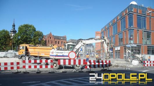 Wjazd na plac Kopernika z ul. Żeromskiego został zamknięty