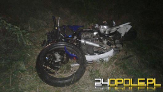 Motocyklista ranny w wypadku pod Nysą. W akcji śmigłowiec LPR