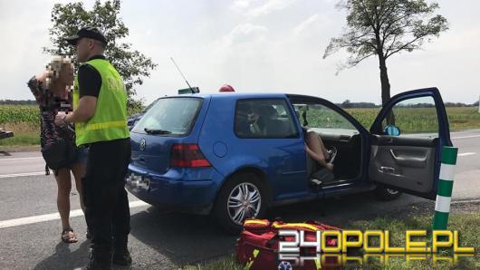 Dwie osoby ranne na DK 46 niedaleko Niemodlina.
