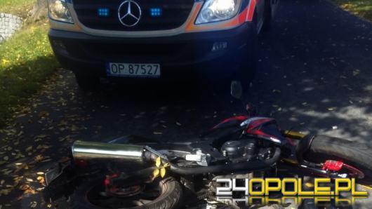 Pijany motocyklista wjechał w pracownika firmy wywożącej śmieci