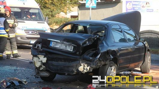 Zderzenie trzech pojazdów na ul. Strzeleckiej
