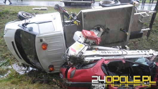 Wypadek 4 samochodów między Opolem a Lędzinami