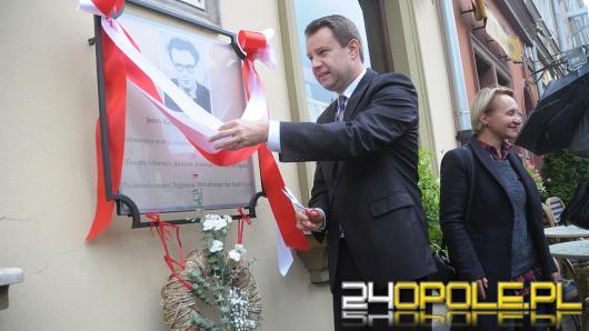 Arkadiusz Wiśniewski uroczyście odsłonił tablicę Jerzego Grotowskiego