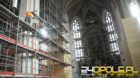 Trwa remont wnętrza Katedry Opolskiej
