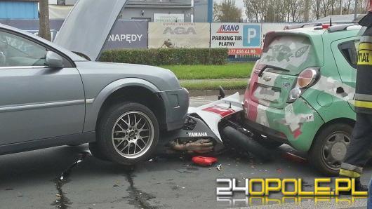 Motocyklista ranny w wypadku na ul. Głogowskiej