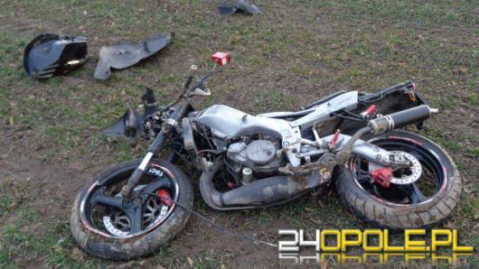 21-letni motocyklista zginął na miejscu