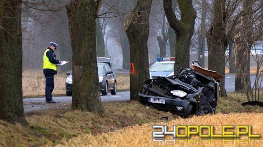 Tragiczny wypadek w Krępnej, nie żyje 44-letni pasażer