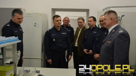 Otwarcie nowych pracowni laboratoryjnych w KWP Opole