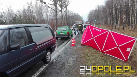 DK 43: 28-latek śmiertelnie potrącił 82-letniego rowerzystę.