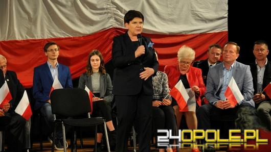 Beata Szydło podsumowała 2,5 roku rządów PiS podczas wizyty w Krapkowicach
