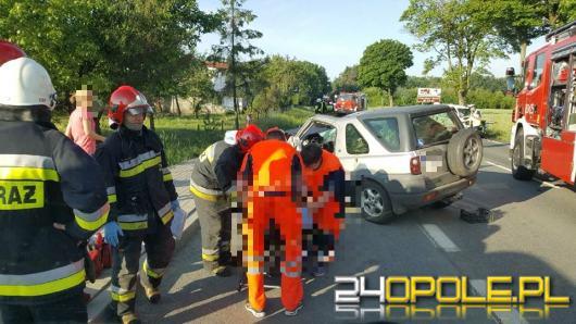 DK46 zablokowana po zderzeniu czołowym w Jaczowicach