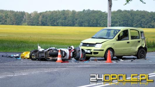 Śmigłowiec LPR wysłany do motorowerzysty rannego w wypadku