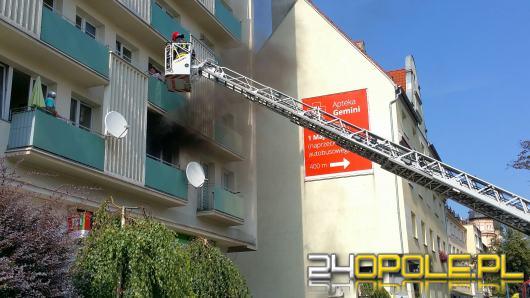 Pożar mieszkania na Kościuszki. Ewakuacja Ludzi