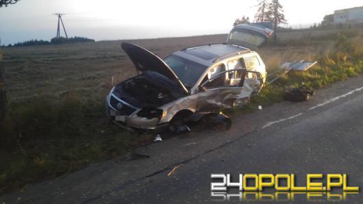 Nocne zderzenie we wsi Kórnica. Dwie osoby ranne w szpitalu