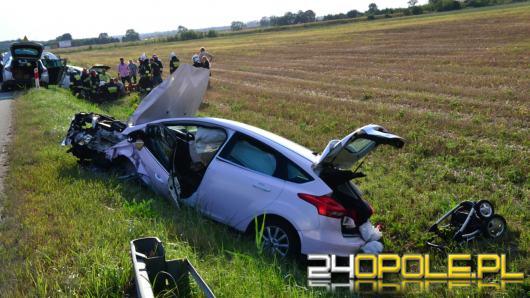 Zderzenie 3 pojazdów na obwodnicy Opola, 8 osób poszkodowanych