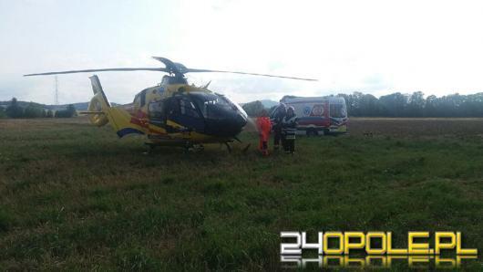 Rowerzysta ranny po zderzeniu z samochodem w Prudniku