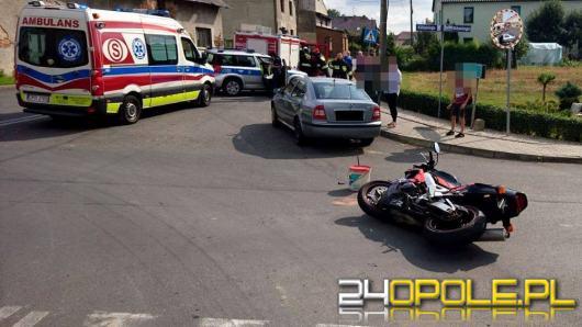 Zderzenie osobówki i motocykla w Białej