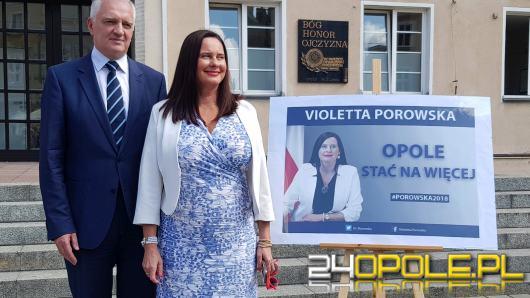 Wicepremier Jarosław Gowin poparł kandydaturę Violetty Porowskiej na prezydenta miasta