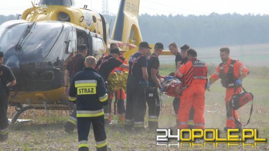 Groźny wypadek koło Zimnic Małych, Cinquecento wyrzucone daleko w pole