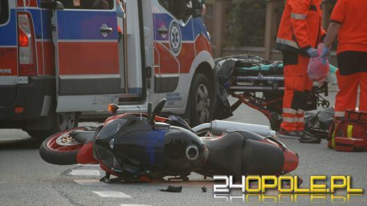 Tragiczny wypadek motocyklisty w Dąbrowie