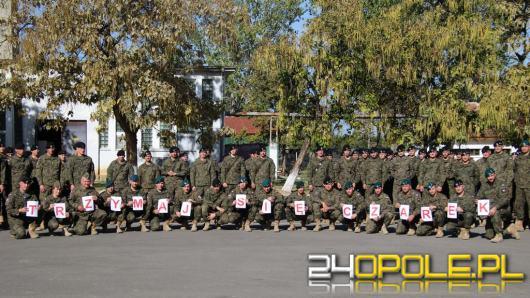 Żołnierze z 10 Brygady Logistycznej w Opolu walczą wspólnie o zdrowie kolegi