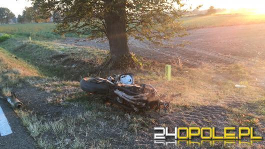Tragiczny wypadek motocyklisty w zderzeniu z ciężarówką
