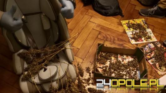 W bagażniku volkswagena znaleźli blisko 300 gramów marihuany