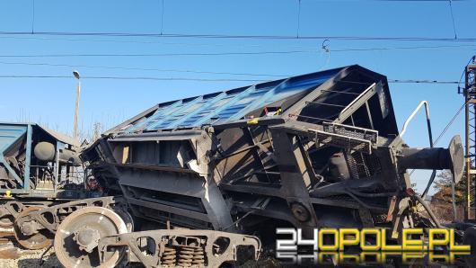 Zablokowana linia Opole-Gliwice po wykolejeniu się pociągu