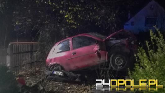 Oldrzyszowice: pijany wsiadł za kierownicę i wjechał w płot