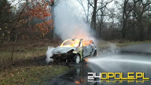 W Krępnej spłonął samochód osobowy.