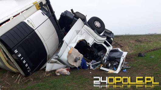 42-letni kierowca ciężarówki zginął pod Krapkowicami