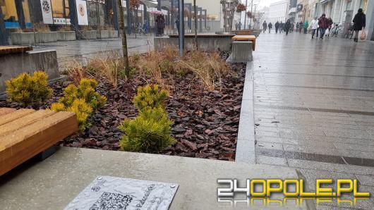 Tabliczki z kodem QR na ławkach wzdłuż Krakowskiej. Co zobaczymy skanując kod?