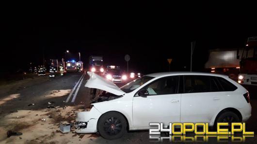 Jedna osoba ranna w zderzeniu dwóch osobówek w Malni